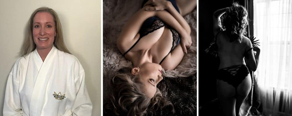 before and after of Fairfax va boudoir session
