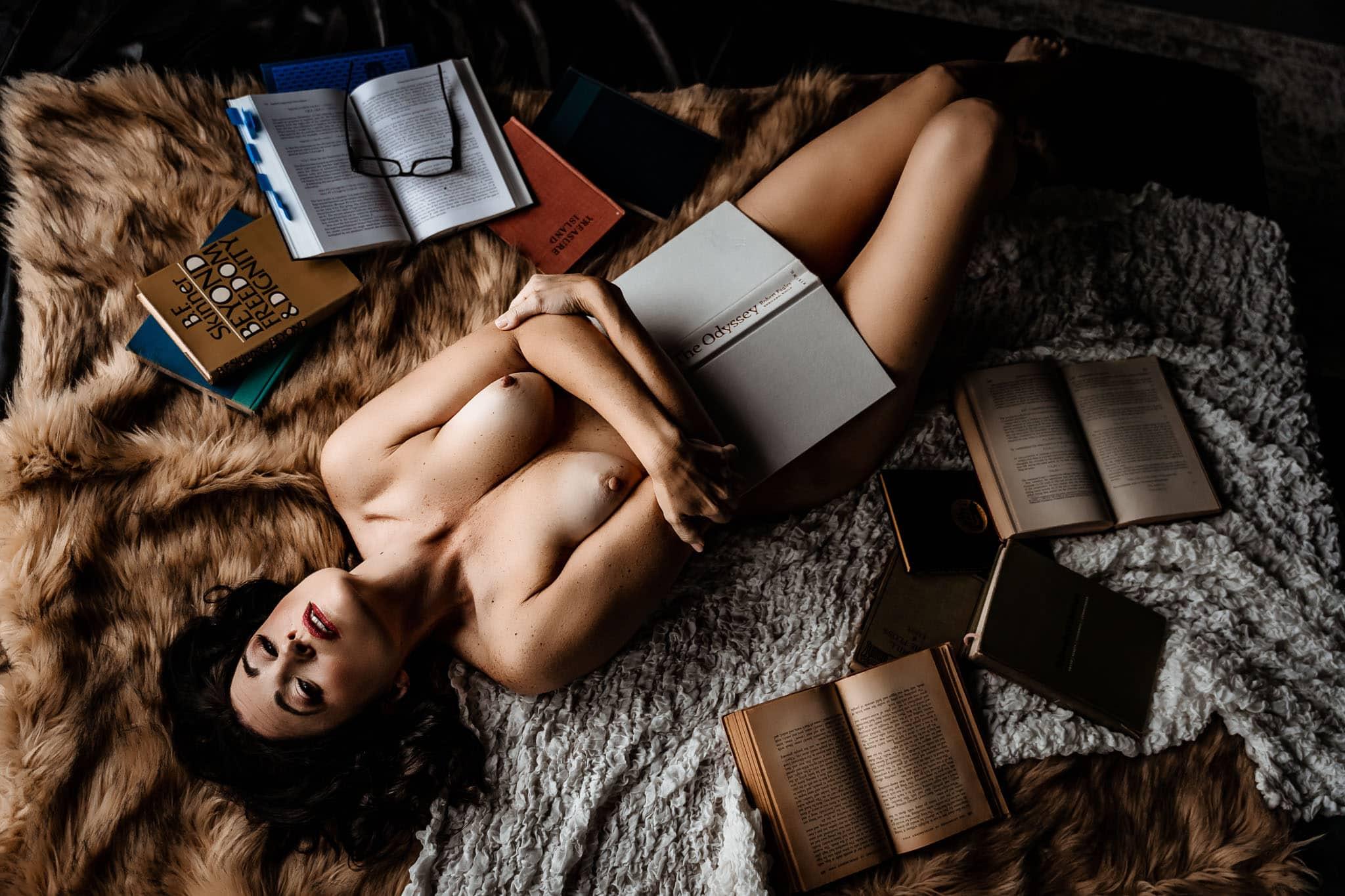 boudoir shoot for 50th birthday