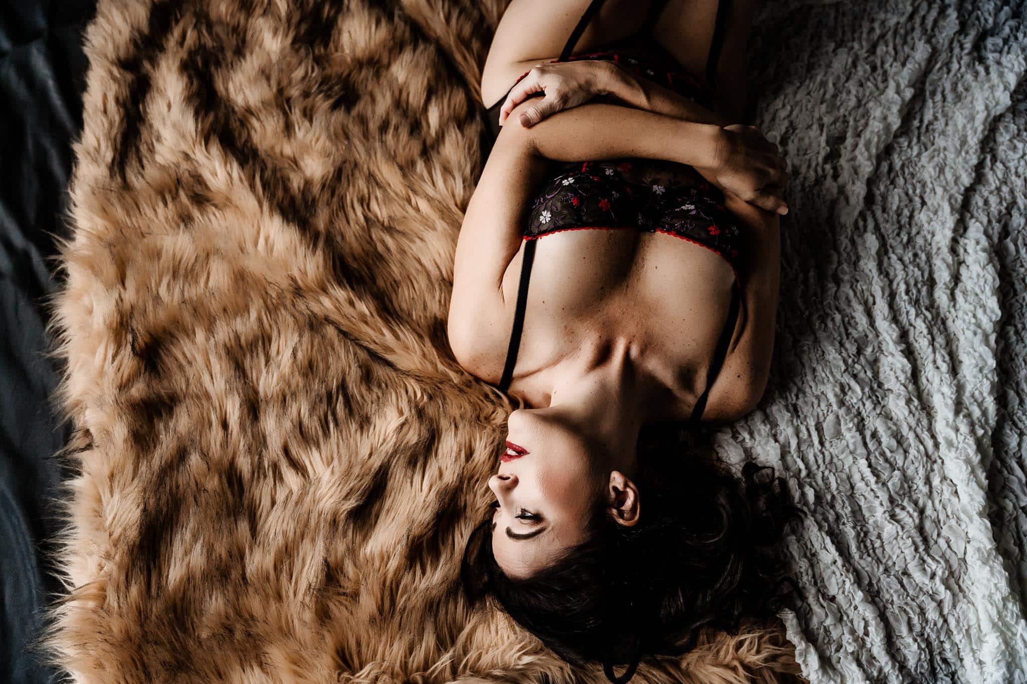 boudoir shoot for her 50th birthday