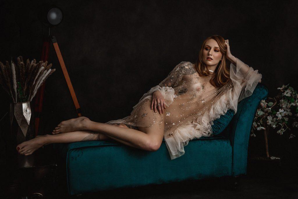 fine art boudoir portrait of a woman